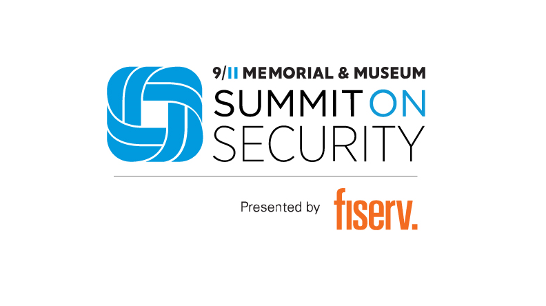 This logo says 911 Memorial Museum Summit on Security presented by Fiserve.